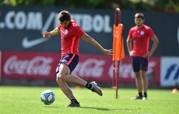 Luego de la discusión, Ángel y Óscar Romero fueron titulares en la práctica de San Lorenzo