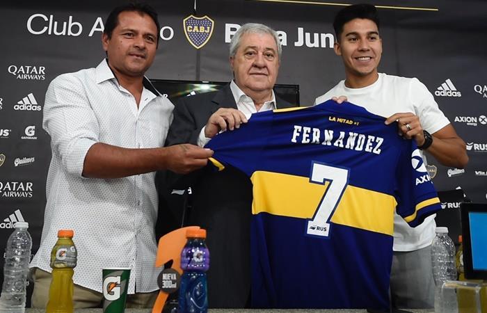 Pol Fernández fue presentado como nuevo jugador de Boca. Foto: Twitter