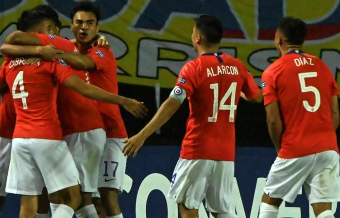 Chile le ganó 3 a 0 a Ecuador. Foto: Twitter Conmebol