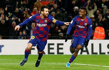 Lionel Messi le dio la victoria por 1 a 0 a Barcelona sobre Granada en el debut de Quique Setién