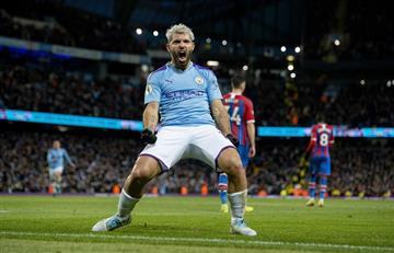 Agüero marcó dos goles, rompió otra marca, pero City empató