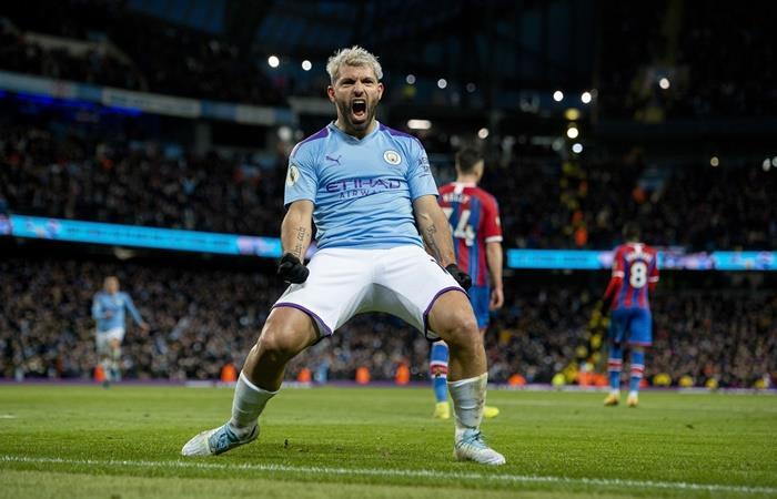 Sergio Agüero se convirtió en el cuarto máximo goleador de la Premier League. Foto: EFE