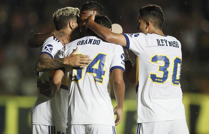 Boca le ganó 3 a 1 a Athletico Paranaense en San Juan. Foto: Twitter Boca