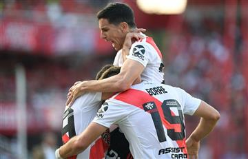 River le ganó 2 a 1 a Independiente y es puntero de la Superliga