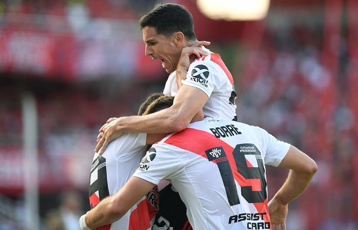 River le ganó 2 a 1 a Independiente con goles de Santos Borré. Foto: Twitter Superliga