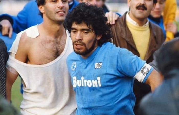 Diego Maradona, la leyenda de Nápoli. Foto: Twitter