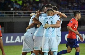 Argentina le ganó 2 a 0 a Chile y se acerca al cuadrangular final