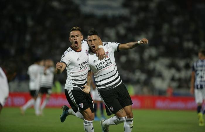 River le ganó 1 a 0 a Godoy Cruz y es el único puntero de la Superliga. Foto: Twitter