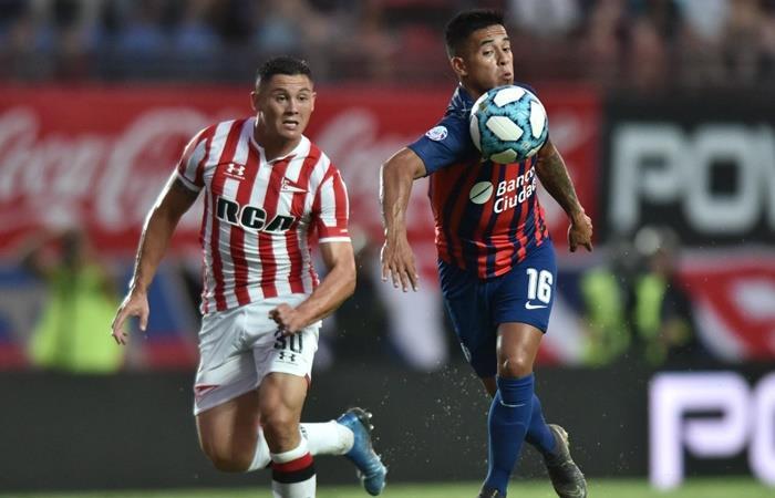 San Lorenzo y Estudiantes empataron 1 a 1 en el Nuevo Gasómetro. Foto: Twitter