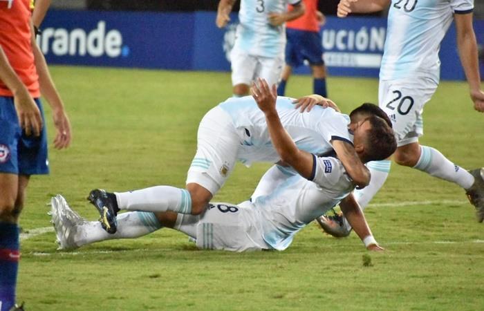Argentina enfrenta a Ecuador en el Preolímpico Sub 23. Foto: Twitter
