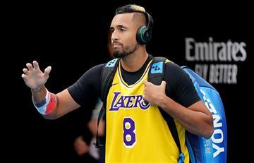 El homenaje de Nick Kyrgios a Kobe Bryant en el Australian Open