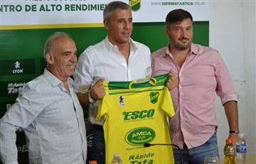 Hernán Crespo fue presentado como entrenador de Defensa y Justicia