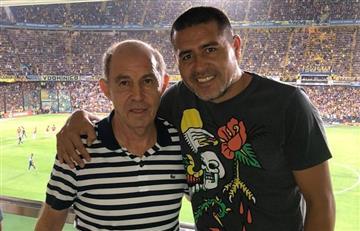 La foto de Juan Román Riquelme y Ricardo Bochini en La Bombonera viendo Boca vs Independiente