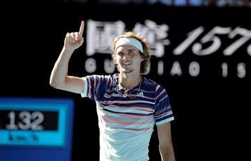 Zverev le ganó a Wawrinka y jugará su primera semifinal de Grand Slam