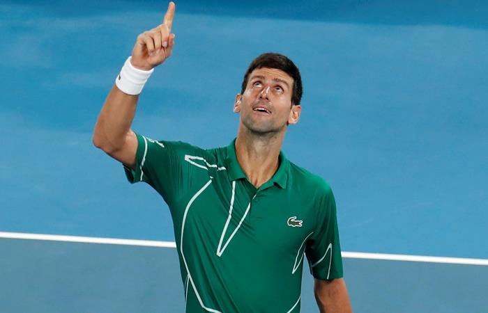 Djokovic eliminó a Federer y es finalista en Australia. Foto: EFE
