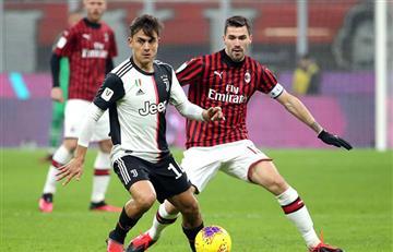 Dybala titular en agónico empate de la Juventus