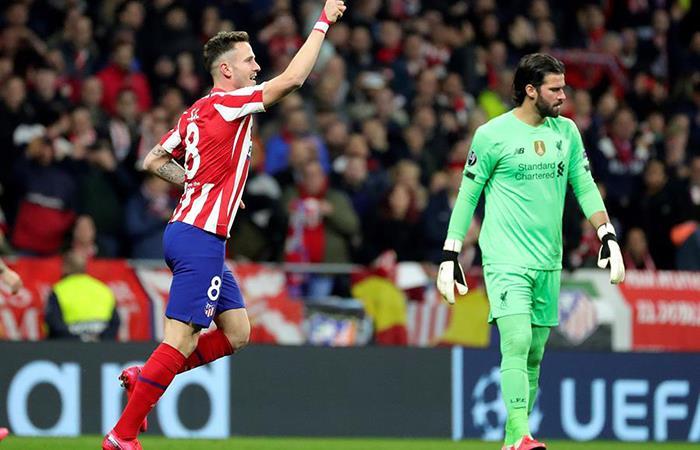 Saúl Ñíguez anotó el único tanto del partido. Foto: EFE