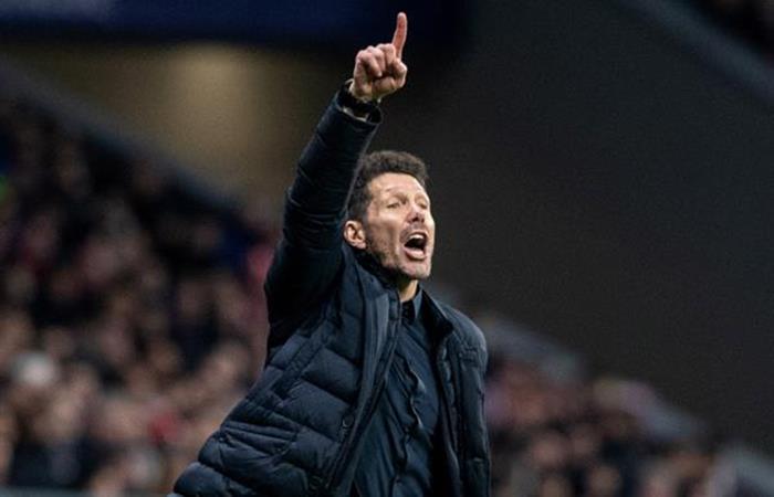 Diego Simeone se mostró feliz por la victoria 'colchonera' (Foto: EFE)