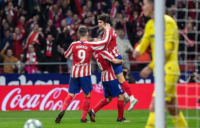 Atlético de Madrid se pone tercero en la tabla. Foto: EFE