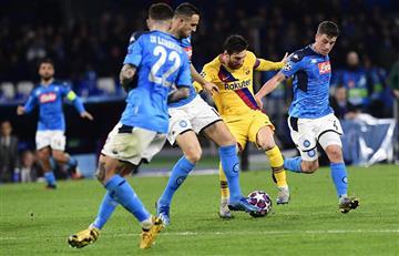 Lionel Messi fue titular en el empate entre Barcelona y Nápoli por la Champions League