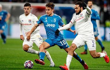 Paulo Dybala presente en caída de la Juventus en Champions League