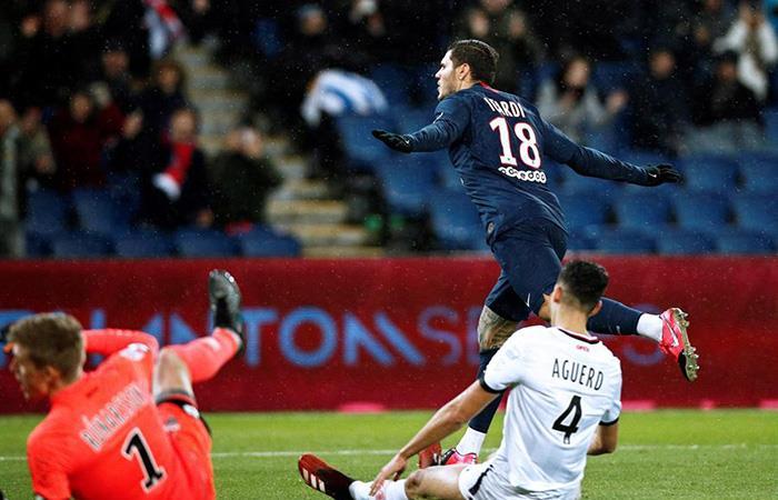 Mauro Icardi ingresó y marcó con el PSG. Foto: EFE