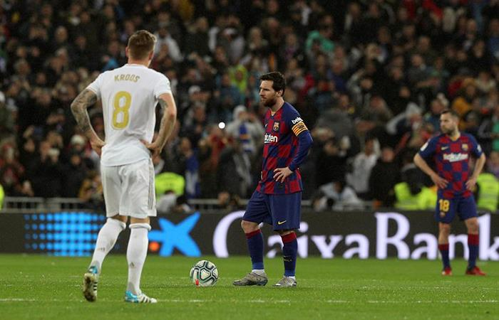 Lionel Messi no pudo festejar en el Santiago Bernabéu. Foto: EFE