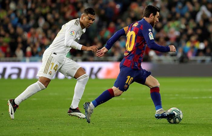 Lionel Messi jugó su clásico número 43. Foto: EFE