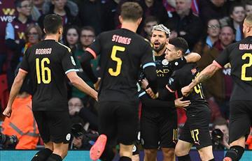 Sergio Agüero: su gol en la final de la Carabao Cup
