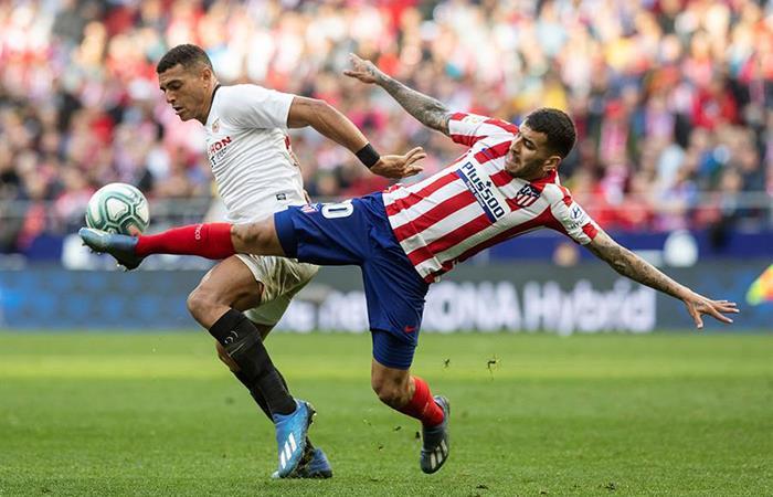 Atlético de Madrid vs Sevilla. Foto: EFE