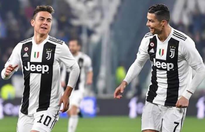 Dybala y Ronaldo (Foto: EFE)