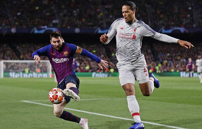 Van Dijk y Messi (Foto: EFE)