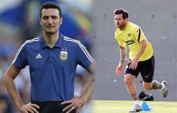 Scaloni se rinde ante Lionel Messi