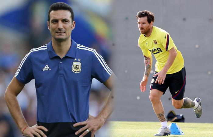 Lionel Scaloni y sus palabras de respeto hacia Messi (Foto: EFE)