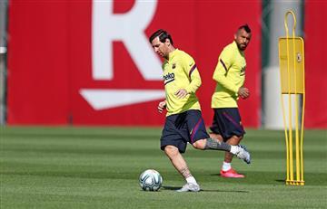 Lionel Messi se mostró ansioso por volver a jugar