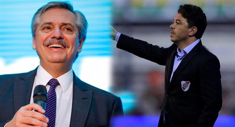 Presidente de Argentina pidió hablar con Gallardo para evaluar retorno del fútbol. Foto: EFE