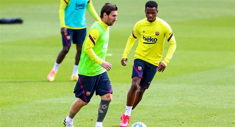 Lionel Messi viene entrenando con Barcelona para el reinicio de LaLiga. Foto: Twitter