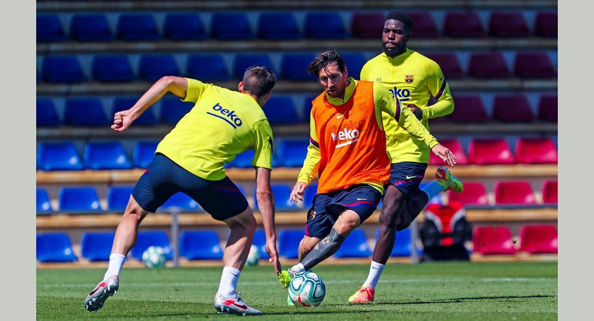 Lionel Messi superó la lesión muscular. Foto: Prensa FB Barcelona