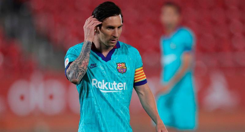 Lionel Messi en el encuentro del Barcelona y Mallorca. Foto: EFE