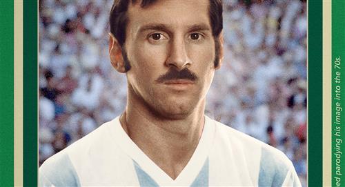 Selección Argentina: ¿cómo hubiera sido el look de Lionel Messi en el Mundial México 70'?