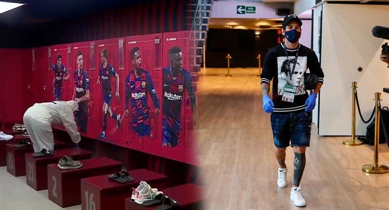 Barcelona desinfecta instalaciones del Camp Nou. Foto: Twitter - FC Barcelona