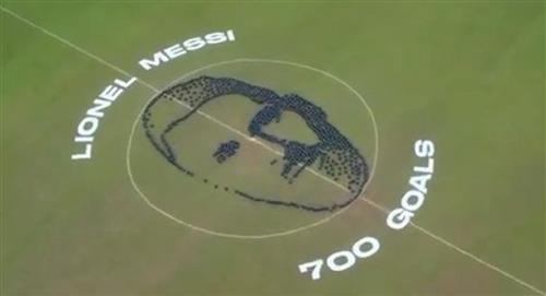 Lionel Messi y el espectacular homenaje por su gol 700