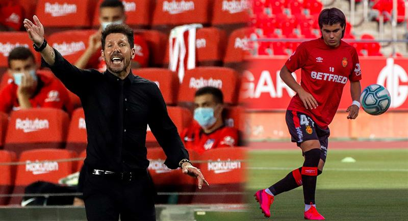 Diego Simeone se refirió a la promesa argentina, Luka Romero. Foto: EFE