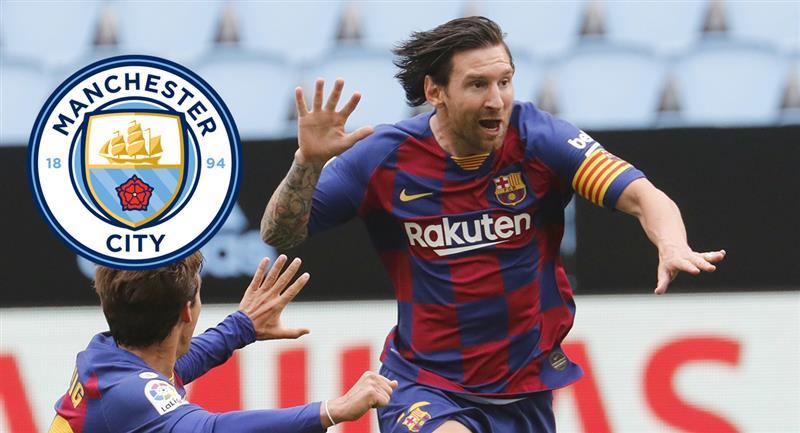 Lionel Messi y las posibilidades de llegar al Manchester City. Foto: EFE