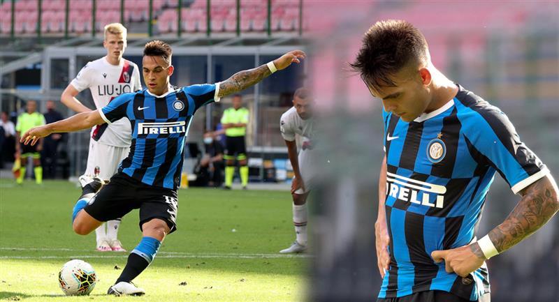 Lautaro Martínez falló penal e Inter perdió en la Serie A. Foto: EFE