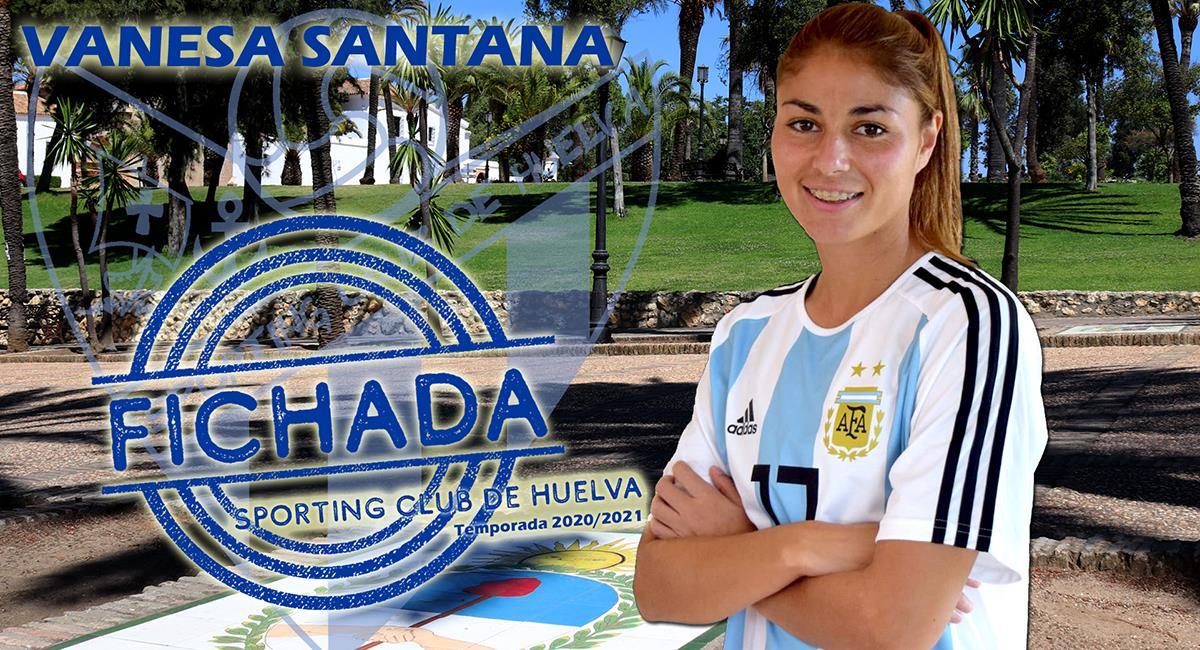 Vanesa Santana disputará la Primera División de España. Foto: Club Sporting Club Huelva