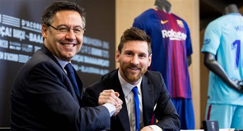 Bartomeu habló del futuro de Messi