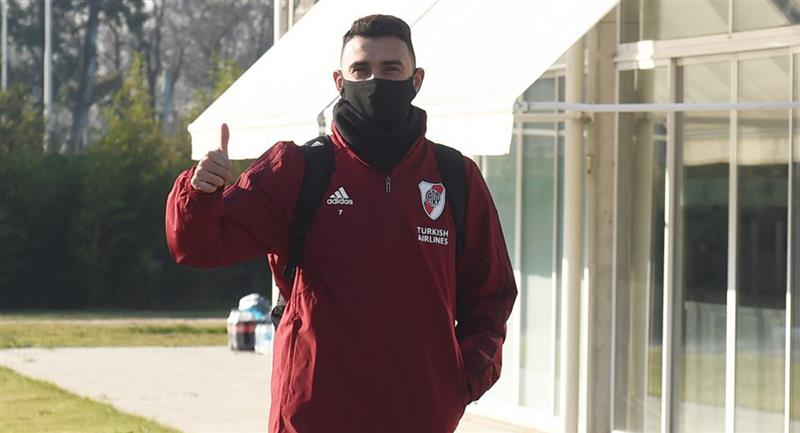 Matías Suárez ya entrena con River Plate. Foto: Twitter River Plate