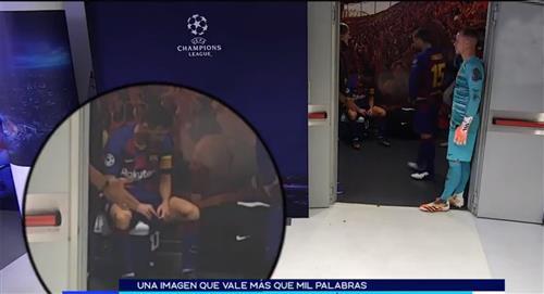 Lionel Messi: la imagen de desolación en el entretiempo entre Barcelona vs Bayern Múnich