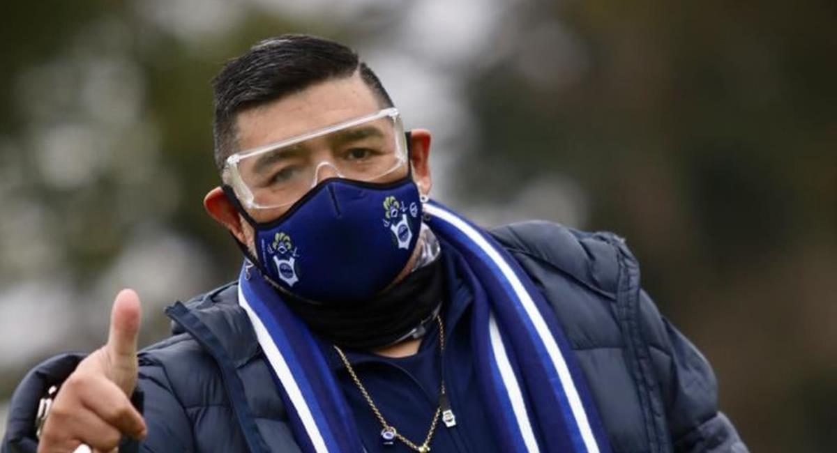 Diego Maradona ya entrena a Gimnasia. Foto: Facebook Gimnasia y Esgrima de La Plata